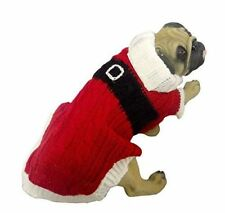 Santa Claus Knit Sweater Costume For Dogs Pooches Puppies Old Saint Nick Suit
