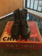 Chippewa Homestead Boots, Black Odessa, Size 9 Men's - Used and Custom Altered