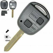 Funk Schlüssel Ersatz Gehäuse passend für Toyota Corolla E12 Yaris 2Tasten TOY47