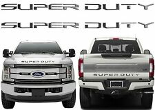Front & Rear Carbon Fiber Super Duty Tailgate Letters For 2017+ F250/F350/F450