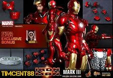 Ready! Hot Toys MMS256D07 Iron Man Mark 3 III Diecast Special Exclusive Bonus