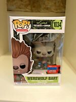 WEREWOLF BART NYCC 2020 CONVENTION EXCLUSIVE FUNKO POP SIMPSONS TREEHOUSE #1034