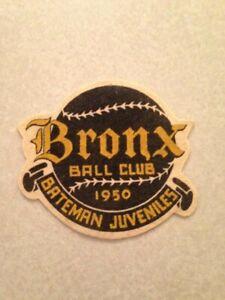 1950 Bateman Juveniles Bronx Ball Club Patch