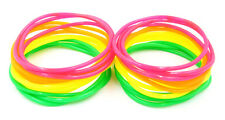 New High Quality 24 Piece Neon Colored Jelly Bracelets #B1008-24