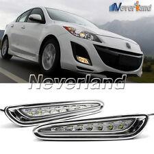 Car LED Daytime Running Lights For Mazda 3 Axela Fog Lamp DRL 2010 11 2012 2013