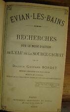 Brochures sur les eaux minérales. XIX°.Royat, Vichy