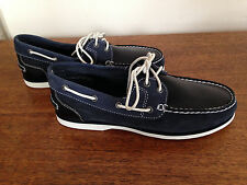 Timberland 3698 Women's Boat Shoes NAVY & WHITE Suede Leather size 7 BRAND NEW