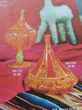 Vintage 1970s Hot Tamale Ceramic Glaze Brochure Mcm tiki Duncan Fresno