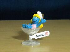 Smurfs Party Glass Smurfette Figure Smurf PVC Toy Vintage Smurfy Figurine 20753