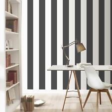 Black and White Stripe Wallpaper by Rasch Just Me Range 286694