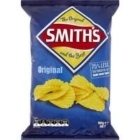 SMITHS ORIGINAL CRINKLE CUT POTATO CHIPS 90GM CARTON OF 18