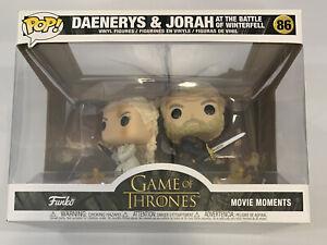 FUNKO POP MOVIE MOMENTS Game of Thrones Daenerys Jorah Battle of Winterfell NEW