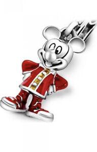 Genuine Pandora Charm Sterling Silver DISNEY Mickey Mouse Pendant 798635C01