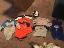 DETROIT Sports Clothing Lot Boys 7 pc Size 12m Red Wings Pistons Tigers Lions