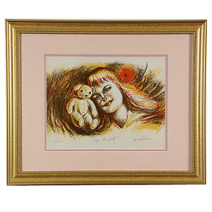 """""""My Friend"""" By Anthony Sidoni Signed Limited Edition #10/150 Lithogragh"""
