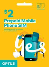 Optus Australian Pre-Paid SIM Card Regular Micro Nano 3G 4G LTE Australia