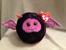Ty Beanie Ballz Halloween Bat Plush Stuffed Animal Batty Toy Ball Decoration