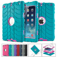 Military Heavy Duty Shockproof Tyre Rubber Hard Hybrid Armor Case Cover For iPad