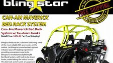 Blingstar CANAM MAVERICK / MAX BED RACK SYSTEM W/TIE DOWN HOOKS  (14-17)