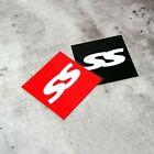 SS Super Street Racing Motorsports Windshield Reflective Vinyl Sticker Black Red