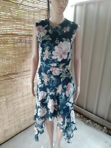 Lover The Label Dress 6 Green Floral Teal Silk Midi