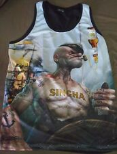 Real Popeye the Sailor Man Drinking SINGHA BEER New Tank Top Shirt Size XL