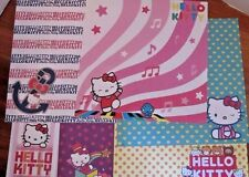 HELLO KITTY ~ 12  X 12 SCRAPBOOKING PAPER ~ 12 Assorted sheets ~ Paper Crafts