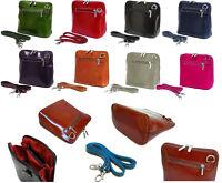 Vera Pelle Genuine Italian Leather Cross Body Bag Mini Shoulder Handbag Italy