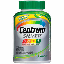 Centrum Silver ADULTS 50+ 220 Tablets MULTIVITAMIN MULTIMINERAL SUPPLEMENT