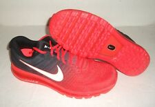 New Nike Air Max 2017 Running Shoes, Men's Size 6.5, Black/Crimson, 849559-600