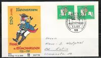 Germany 1970 FDC cover Mi 623 Sc 1020 Count Hieronymus Munchhausen