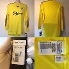 BNWT Liverpool FC Goalkeeper Shirt 2009/10 09/10 Yellow Jersey Adidas E85573