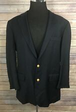 Vintage BROOKS BROTHERS Blazer Men's 44L Black Loro Piana Country Club