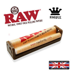 RAW HEMP PLASTIC KING SIZE JOINT CIGARETTE TOBACCO ROLLING MACHINE 110MM Roller