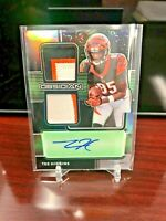 2020 Panini Obsidian Tee Higgins Auto Dual Patch /50 Rookie Jersey Ink Green