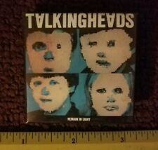 Vintage 1980s Talking Heads Remain in Light Punk Pop New Wave Pin Button Badge