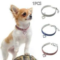 Pet Puppy Small Dog jewelry Necklace Party Rhinestone Collar Love Heart Crystal