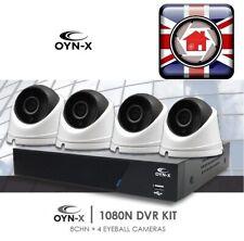OYN-X CCTV KIT SPECIAL 8 Channel 1080 DVR & 2MP AHD 4 CAMERA SYSTEM 1TB HDD DIY
