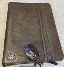Scottish Brown Leather Document Bag / Organiser  Rowallan