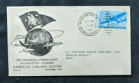 1945 Washington DC First Flight Airmail Cover to Eire Ireland Amerian Airlines