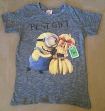 "Despicable Me MINIONS T-SHIRT ""Best Gift To Carl"" Grau-Melange Gr. 158-164 TOP!"