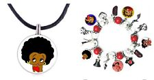 Betty Boop Necklace And Bracelet Set