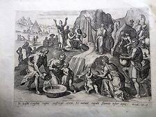 MOSE NEL DESERTOCrispijn van den Broeck 1585, GERARD DE JODE.acquaforte  bulino.