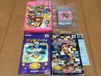 MARIO PARTY 2 Nintendo N64 with BOX and Manual JAPAN 071