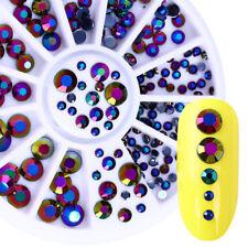 230Pcs/Box 3D Round Rhinestone Nail Art Flatback Acrylic UV Gel Craft Decoration