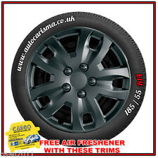 "14"" Ford Fiesta Wheel Trims - Hub Caps - Wheel Covers Set of 4 Jet Black Quality"