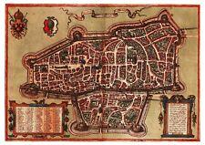 Augsburg Schwaben Bavaria Germany bird's-eye view map Braun Hogenberg ca.1572