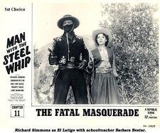 Man with the Steel Whip - Cliffhanger Serial DVD Richard Simmons Barbara Bestar