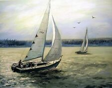 SAILING OFF THE EAST COAST by Richard R. Nervig
