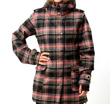 ROXY Women's UNITY Snow Jacket Plaid BPD - Small - NWT Reg $300